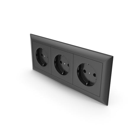 3x Wall Socket Outlet