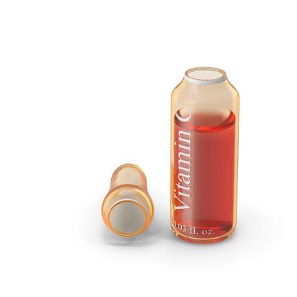 Ácido ascórbico 1 ml ampolla de ámbar abierta