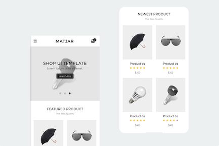 Matjar - Minimalist UI eCommerce Mobile Template