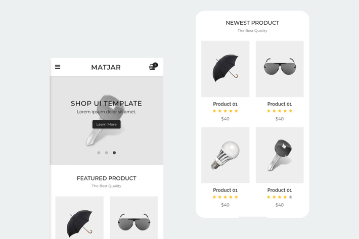 Thumbnail for Matjar - Minimalist UI eCommerce Mobile Template