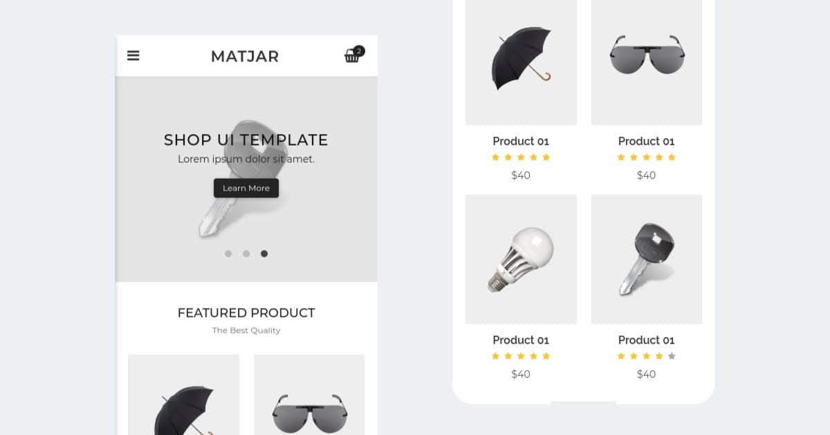 Download Matjar - Minimalist UI eCommerce Mobile Template by Ngetemplates