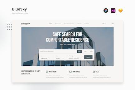 BlueSky - Simple Real Estate Website Hero Image