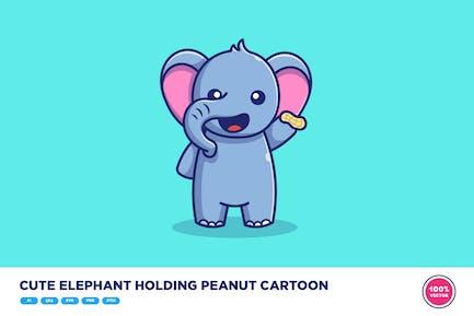 Elefante lindo maní