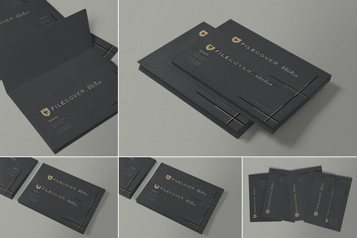 Thumbnail for Pocket Folder Mockups