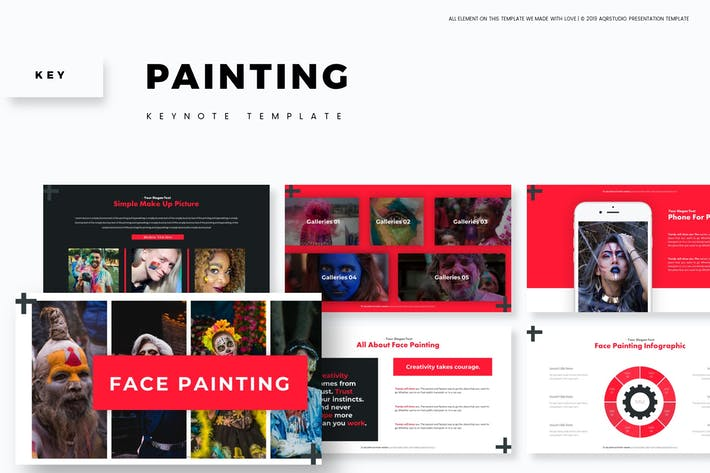 Thumbnail for Painting - Keynote Template