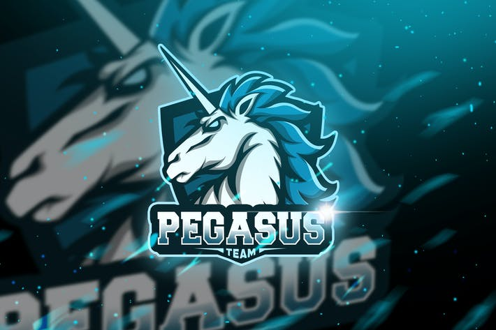 Thumbnail for Pegasus - Mascot & Logo Esport