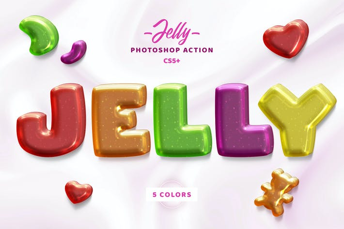 Thumbnail for Jelly Photosop Action
