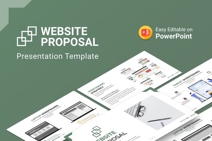 Thumbnail for Шаблон презентации предложения веб-узла PowerPoint