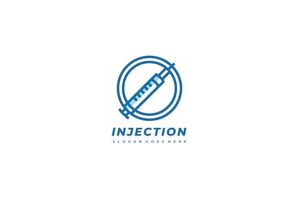Logo d'injection médicale