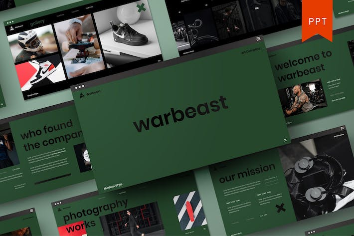 Thumbnail for Warbeast – Business PowerPoint Template