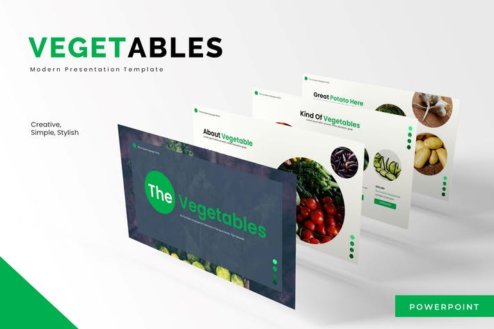 Thumbnail for The Vegetables - Powerpoint Template
