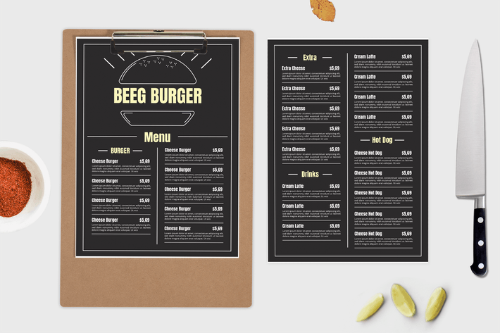 Thumbnail for Beeg Burger – Food Menu Template