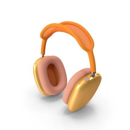 Headphones Orange