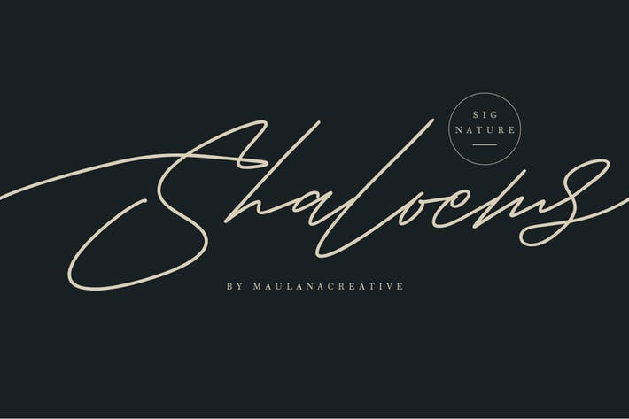 Thumbnail for Shaloems Handwritten Signature Font