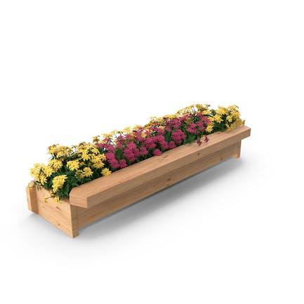 Blumen-Pflanzkasten aus Holz