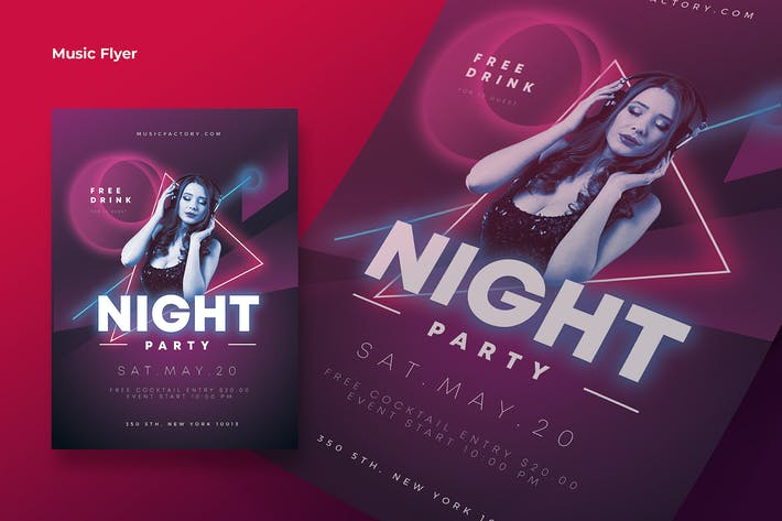 Thumbnail for Cd NIght Party Flyer