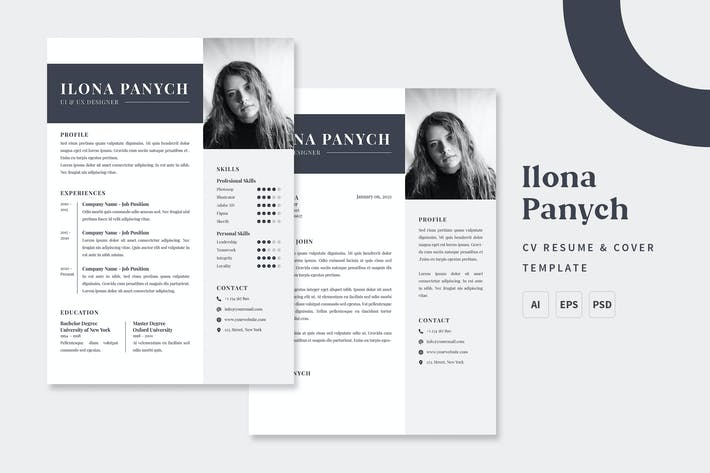 Thumbnail for Ilona - CV & Resume Templates