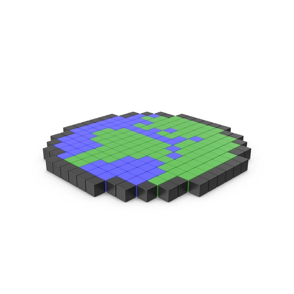 Thumbnail for Pixelated Earth Icon