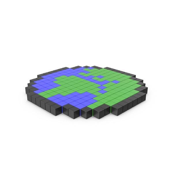 Pixelated Earth Icon