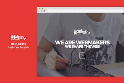 Webmakers - Modèle HTML/CSS à une seule page