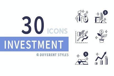 Elemente 30 Investitions-Symbolsatz
