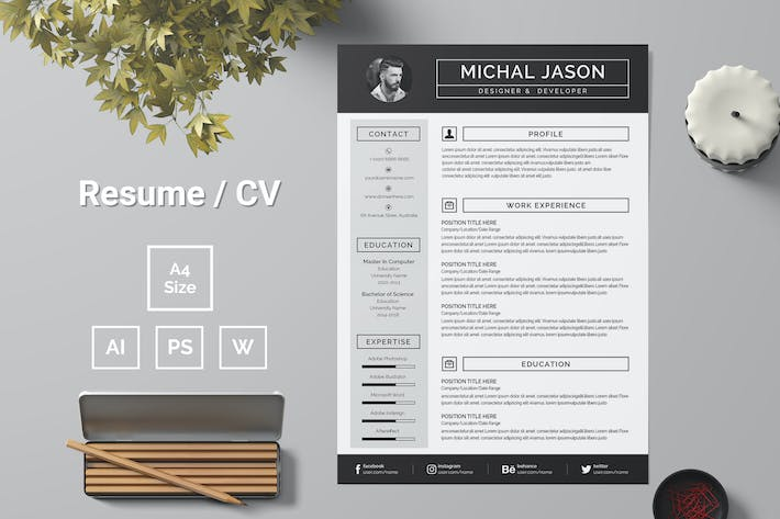 Thumbnail for Resume Template 93