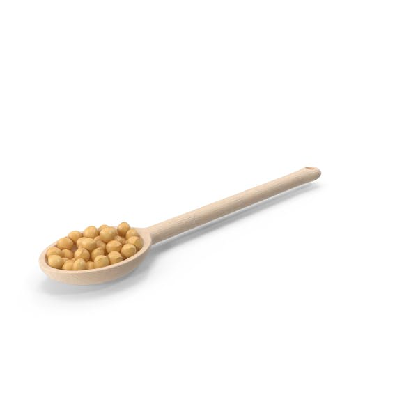 Thumbnail for Wooden Spoon of Soybeans