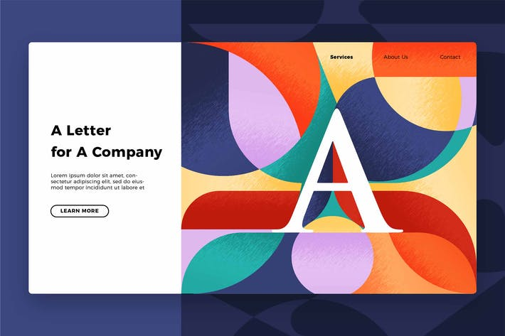 Thumbnail for Letter A - Banner & Landing Page