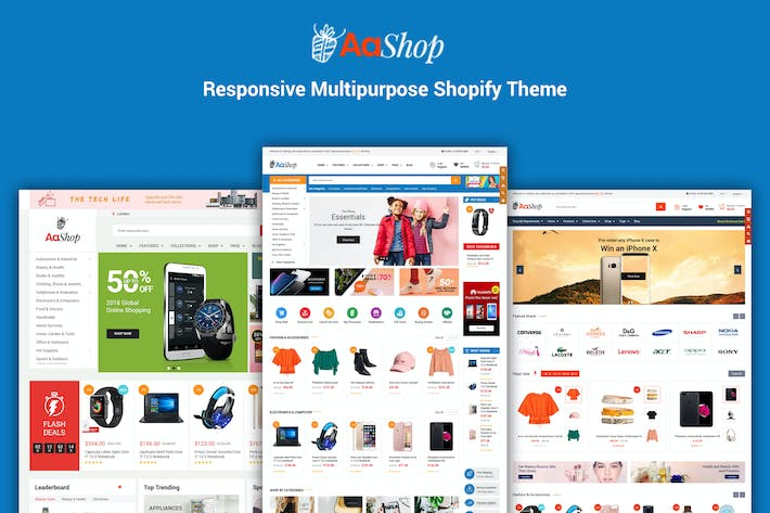Thumbnail for AaShop - Sectionné Bootstrap 4 Shopify Thème