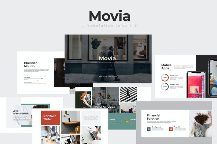 Thumbnail for Movia - Corporate Powerpoint Template