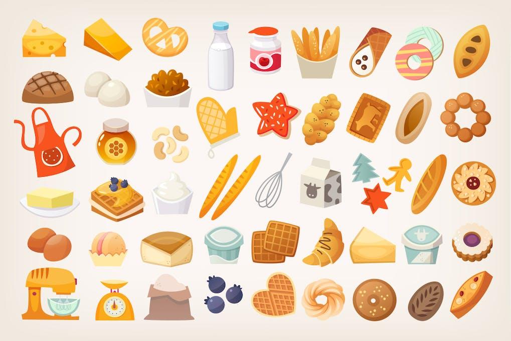Скачать [Envato Elements] Baking elements (2019), Отзывы Складчик » Архив Складчин