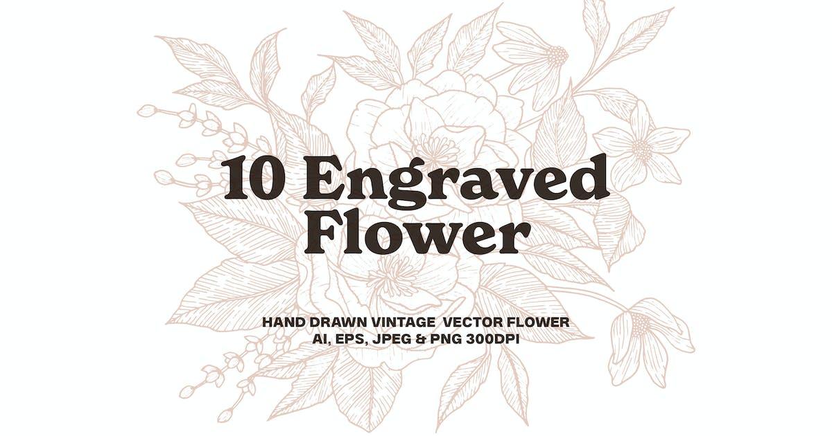 Download 10 Engraved Flower by DikasStudio