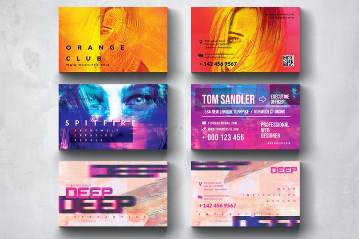 Thumbnail for Kreative Mehrzweck-Visitenkarten-Design-Set