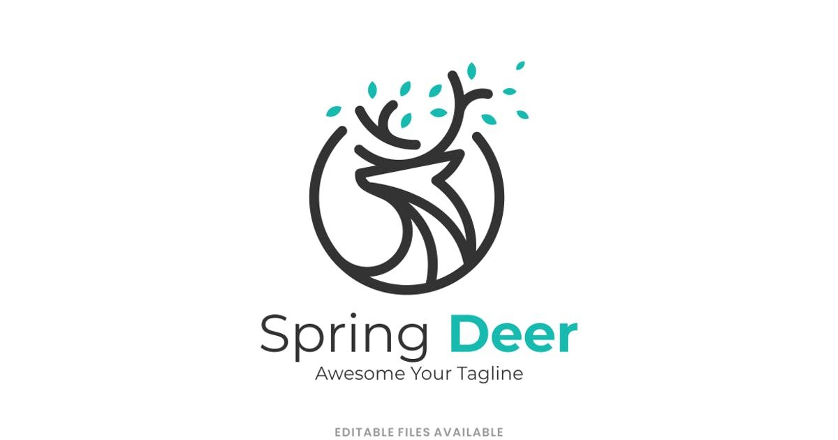Download Spring Deer Line Art Logo by artnivora_std