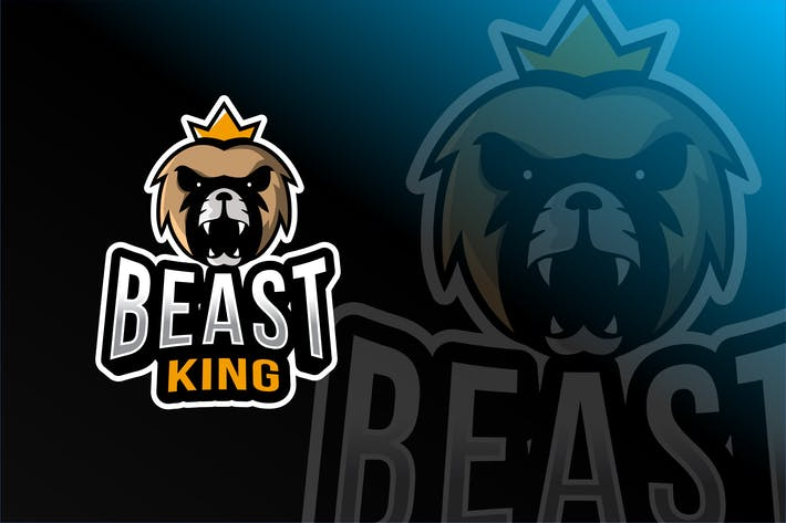 Thumbnail for Beast King Esport Logo Template