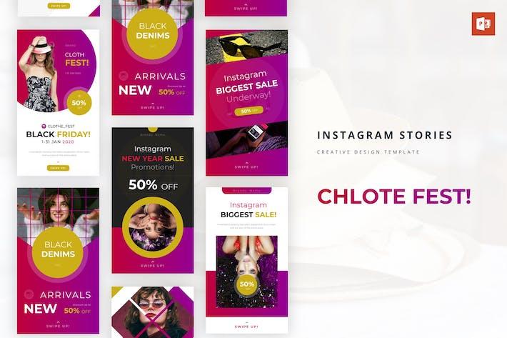 Clote Fest Instagram История Powerpoint Шаблон