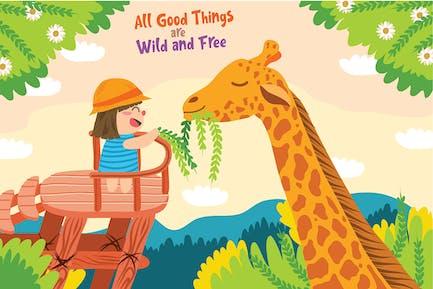 Giraffe - Vektor illustration