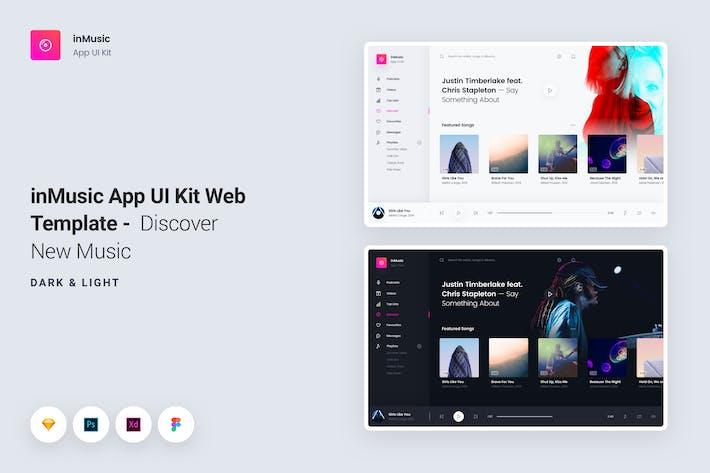 Thumbnail for InMusic Aplicación UI Kit Web Plantilla - Descubrir