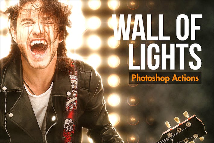 Thumbnail for Wall Of Lights - Photoshop Actions
