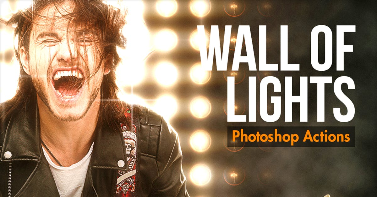 Download Wall Of Lights - Photoshop Actions by BlackNull