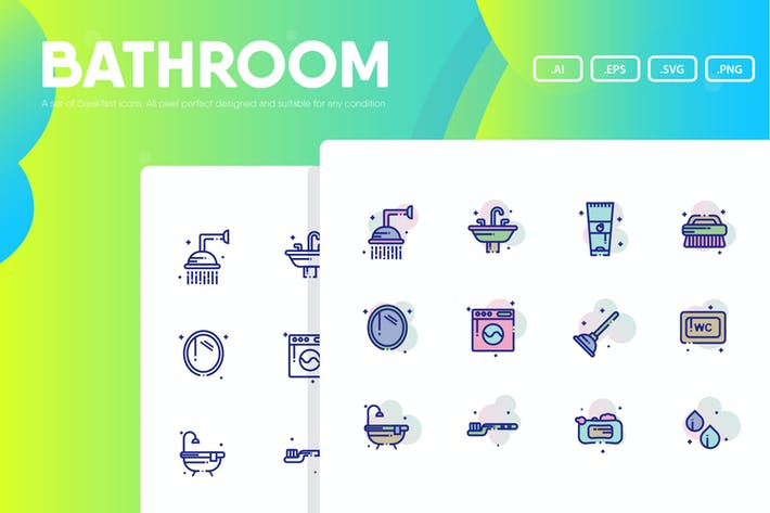 Thumbnail for Bathroom Icon Pack