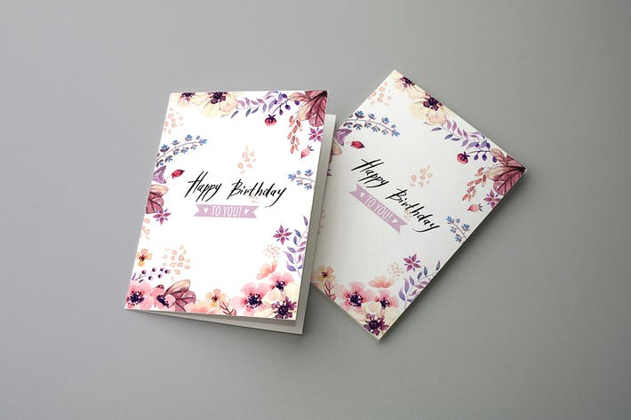 Thumbnail for Invitation & Greeting Card Mockups v2