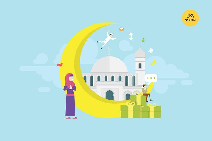 Thumbnail for Ramadan Mubarak Vector Concept Illustration