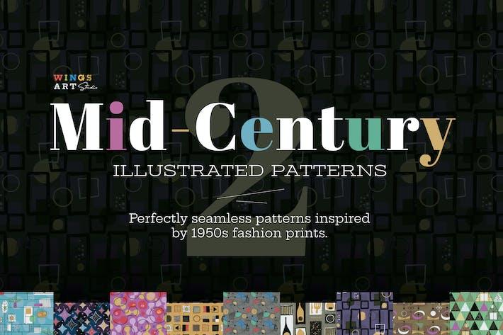 Mid-Century Illustrierte Muster
