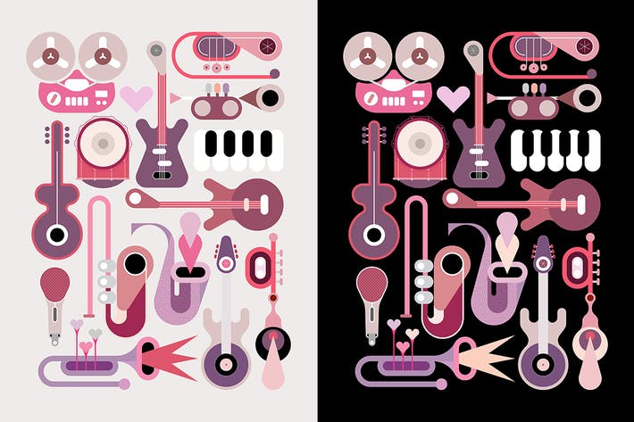 Music Instruments Vector Icon Set