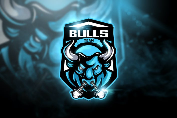 Thumbnail for Bulls Team - Mascot & Esport Logo