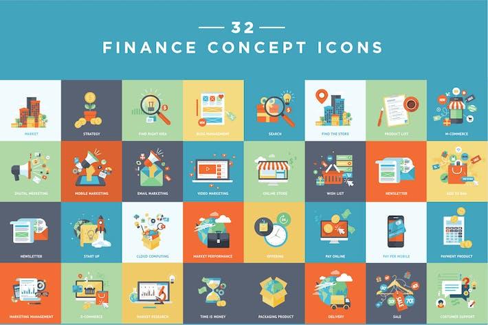 Set von flachen Design-E-Commerce-Icons