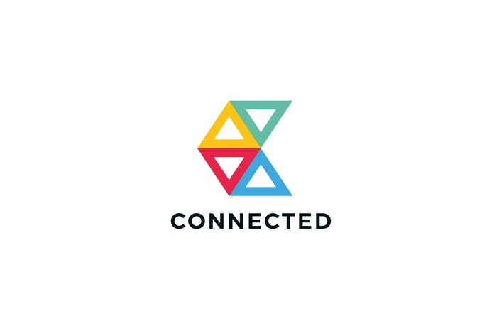 Thumbnail for Connected C Letter Logo Template