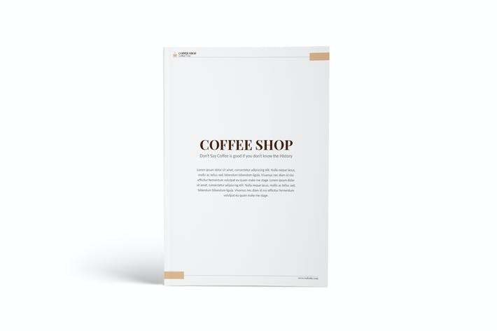 Thumbnail for Coffee Shop A4 Brochure Template