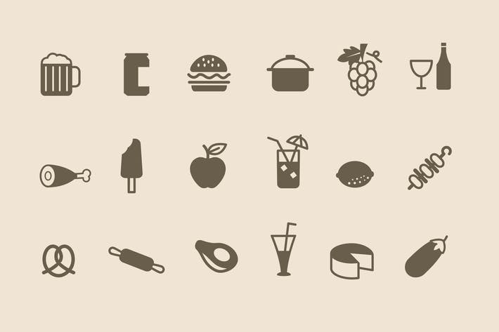 Thumbnail for 66 Food & Drink Icons
